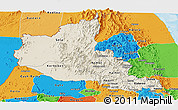 Shaded Relief Panoramic Map of Anseba, political outside