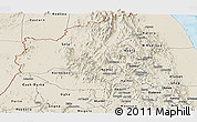 Shaded Relief Panoramic Map of Anseba