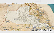 Shaded Relief Panoramic Map of Anseba, satellite outside