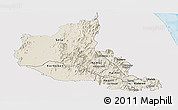 Shaded Relief Panoramic Map of Anseba, single color outside