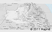 Silver Style Panoramic Map of Anseba