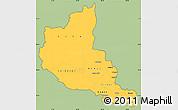 Savanna Style Simple Map of Anseba, cropped outside