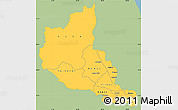 Savanna Style Simple Map of Anseba, single color outside