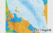 Political 3D Map of Archipelagos