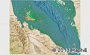 Political 3D Map of Archipelagos, satellite outside