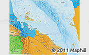 Political Shades 3D Map of Archipelagos