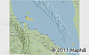 Savanna Style 3D Map of Archipelagos