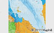 Political Shades Map of Archipelagos