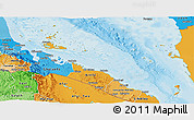 Political Shades Panoramic Map of Archipelagos