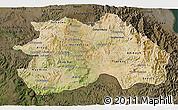Satellite 3D Map of Debub, darken