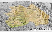 Satellite 3D Map of Debub, desaturated