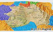 Satellite 3D Map of Debub, political outside