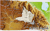 Shaded Relief 3D Map of Adi Keyh, physical outside