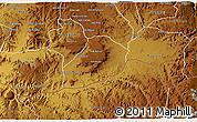 Physical 3D Map of Adi Quala