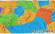 Political 3D Map of Adi Quala