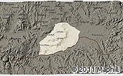 Shaded Relief 3D Map of Adi Quala, darken