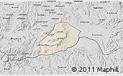 Shaded Relief 3D Map of Adi Quala, desaturated