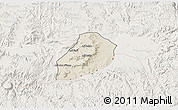 Shaded Relief 3D Map of Adi Quala, lighten