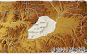 Shaded Relief 3D Map of Adi Quala, physical outside