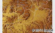 Physical Map of Adi Quala