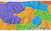 Political 3D Map of Areza