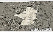 Shaded Relief 3D Map of Areza, darken