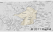 Shaded Relief 3D Map of Areza, desaturated