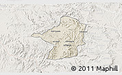 Shaded Relief 3D Map of Areza, lighten