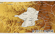 Shaded Relief 3D Map of Areza, physical outside