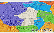 Shaded Relief 3D Map of Areza, political outside