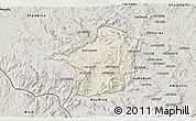 Shaded Relief 3D Map of Areza, semi-desaturated