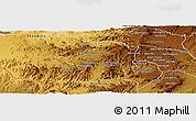 Physical Panoramic Map of Areza