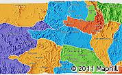 Political 3D Map of Debarwa
