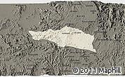 Shaded Relief 3D Map of Debarwa, darken