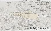 Shaded Relief 3D Map of Debarwa, semi-desaturated