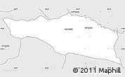 Silver Style Simple Map of Debarwa