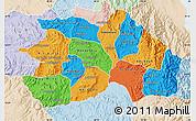 Political Map of Debub, lighten