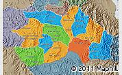 Political Map of Debub, semi-desaturated