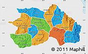 Political Map of Debub, single color outside