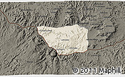 Shaded Relief 3D Map of May Mine, darken