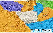 Shaded Relief 3D Map of May Mine, political outside