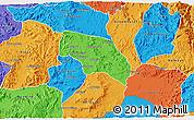 Political 3D Map of Mendefera