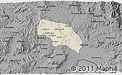 Shaded Relief 3D Map of Mendefera, darken, desaturated