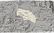Shaded Relief 3D Map of Mendefera, darken, semi-desaturated