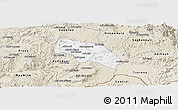 Classic Style Panoramic Map of Mendefera