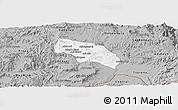 Gray Panoramic Map of Mendefera