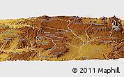 Physical Panoramic Map of Mendefera
