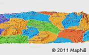 Political Panoramic Map of Mendefera