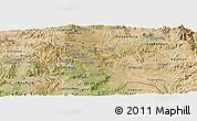 Satellite Panoramic Map of Mendefera
