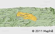 Savanna Style Panoramic Map of Mendefera